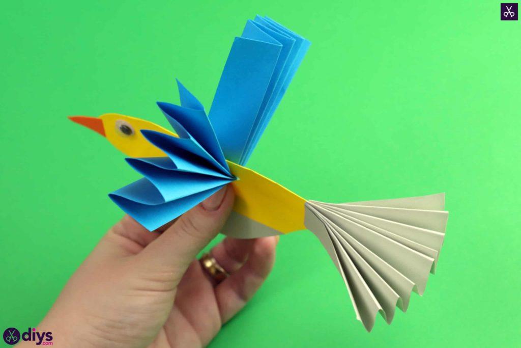 Diy easy paper bird colorful