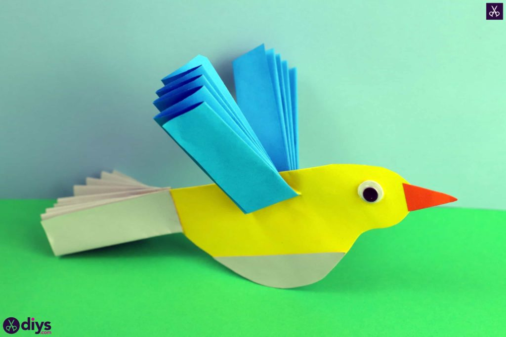 Diy easy paper bird for kids