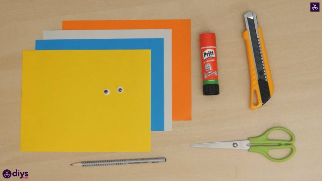 Diy easy paper bird materials