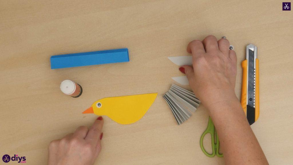 Diy easy paper bird step 10