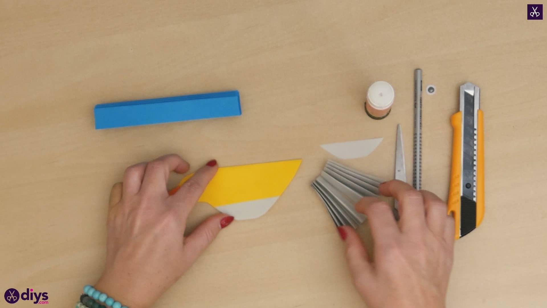 Diy easy paper bird step 10a