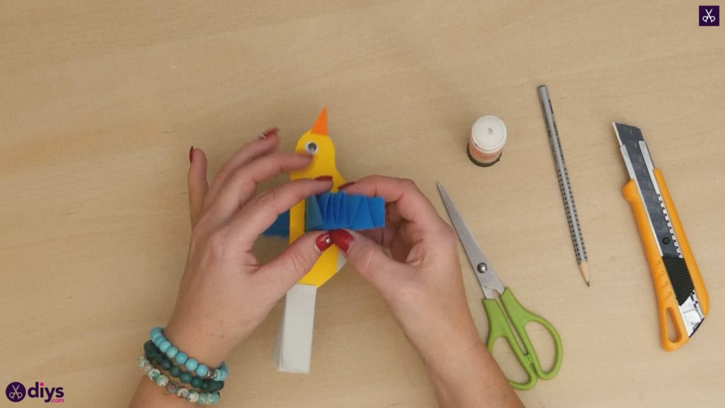 Diy easy paper bird step 12c