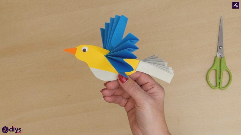 Diy easy paper bird step 12d