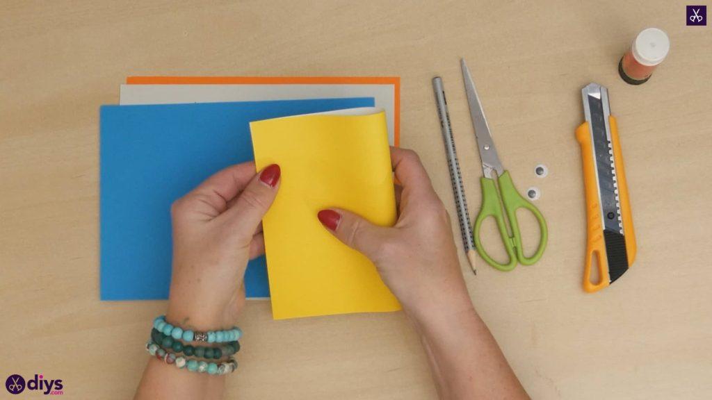 Diy easy paper bird step 2
