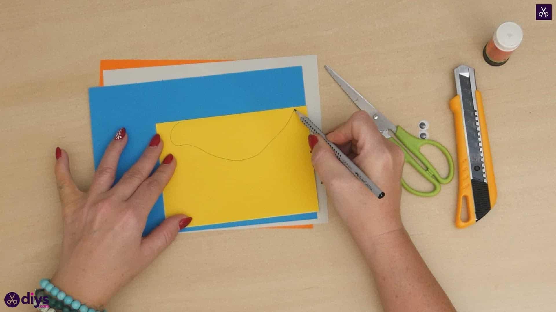 Diy easy paper bird step 2a