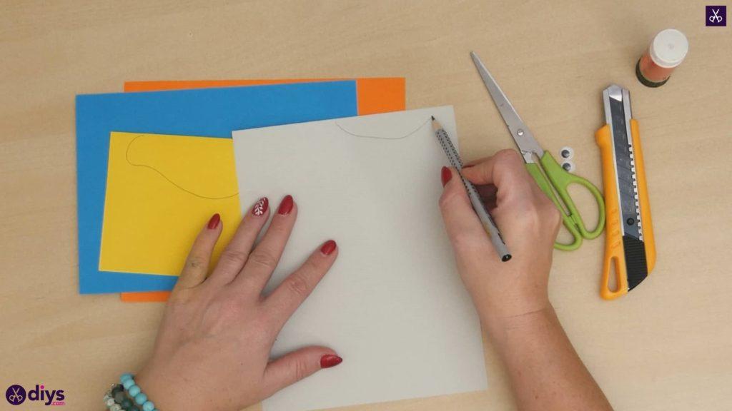 Diy easy paper bird step 3