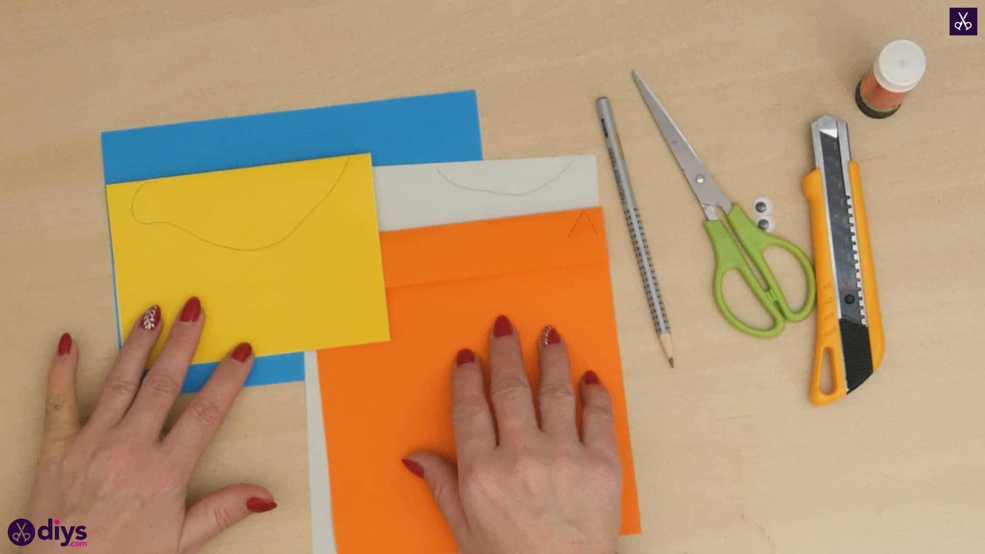 Diy easy paper bird step 5