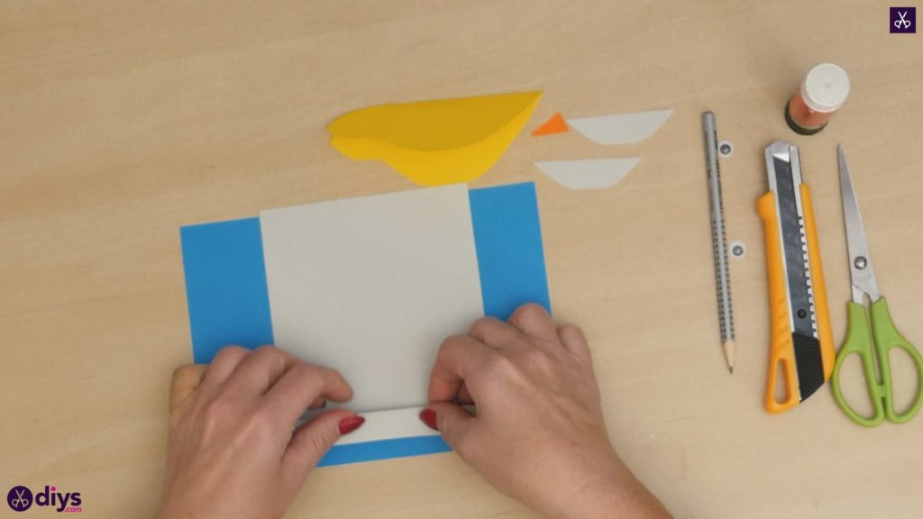 Diy easy paper bird step 6