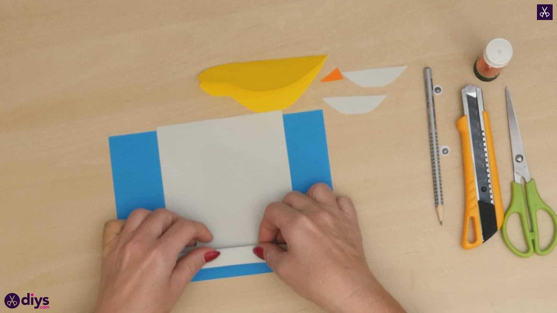 Diy easy paper bird step 6