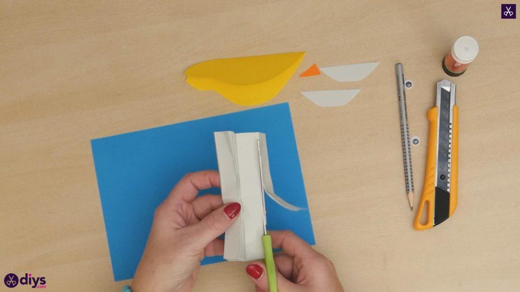 Diy easy paper bird step 6a