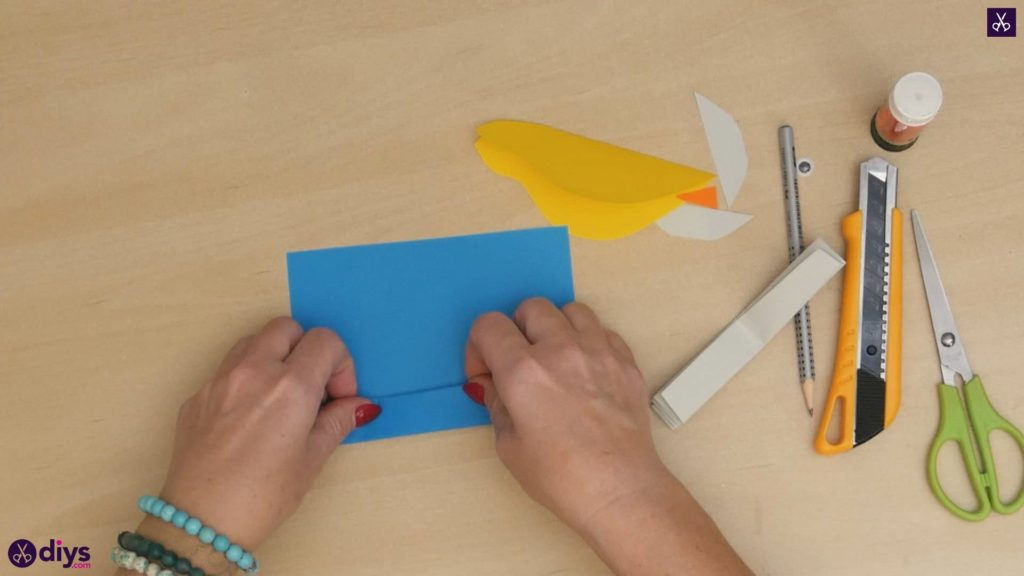 Diy easy paper bird step 7