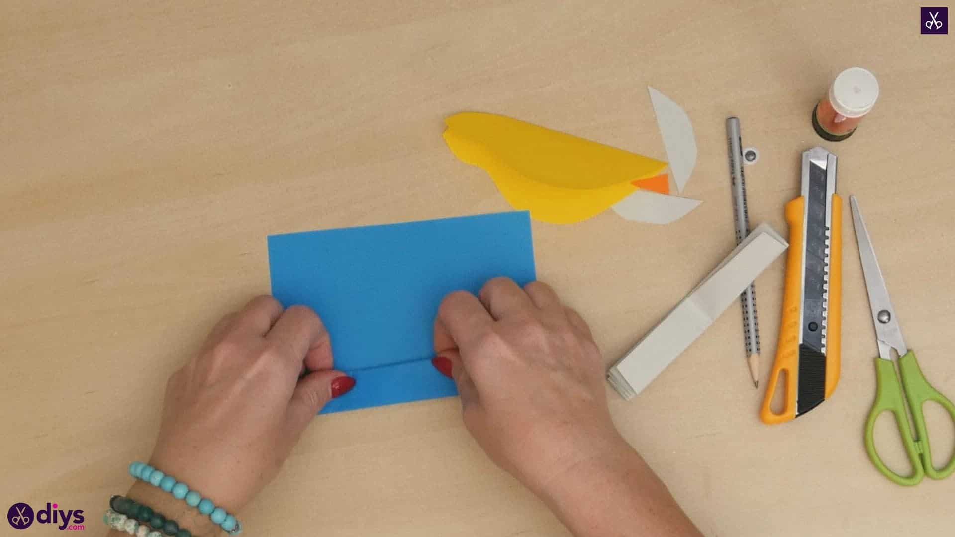 Diy easy paper bird step 7