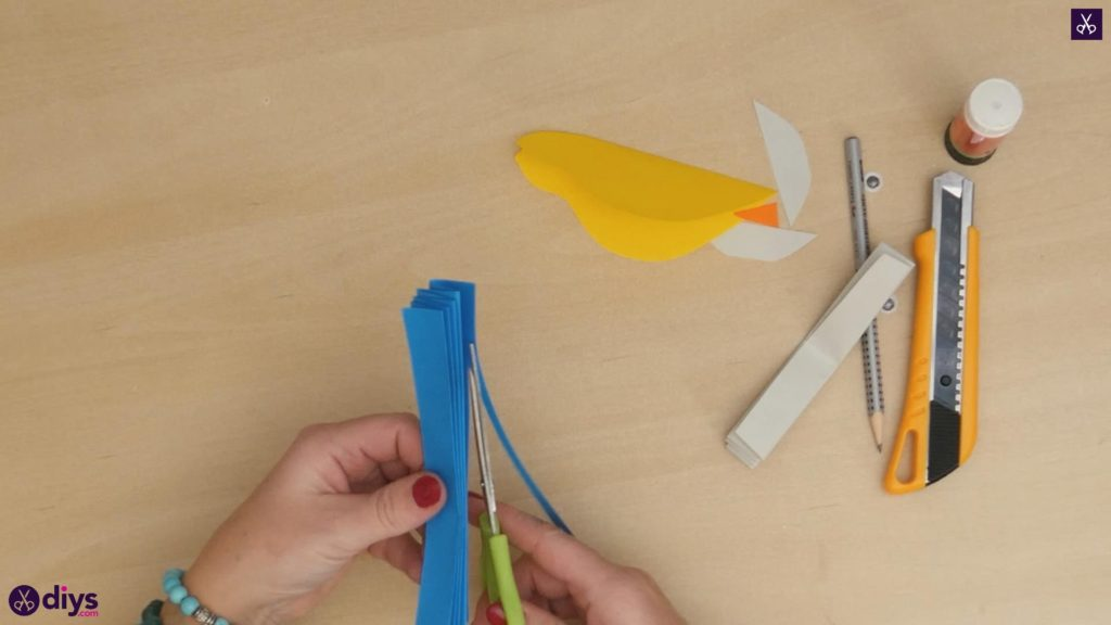 Diy easy paper bird step 7a