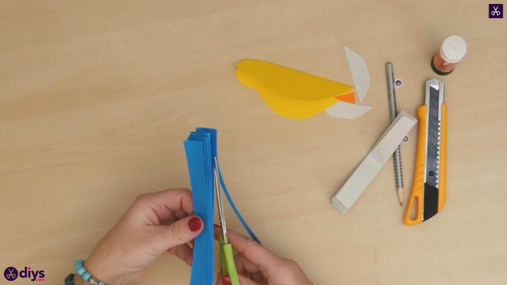 Diy easy paper bird step 7a
