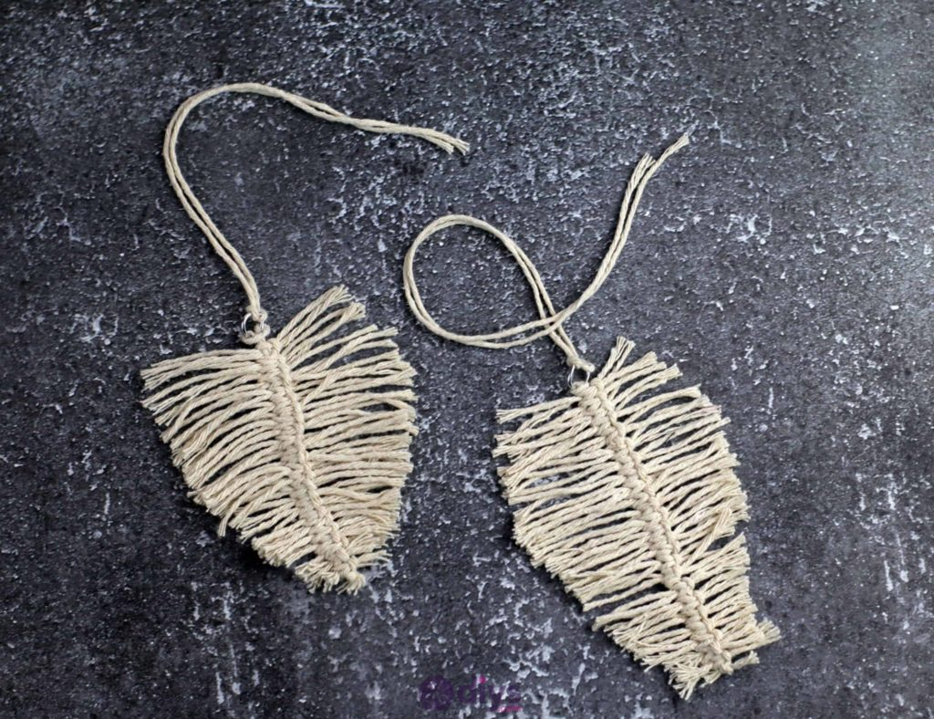 Diy hanging jute leaf crafting