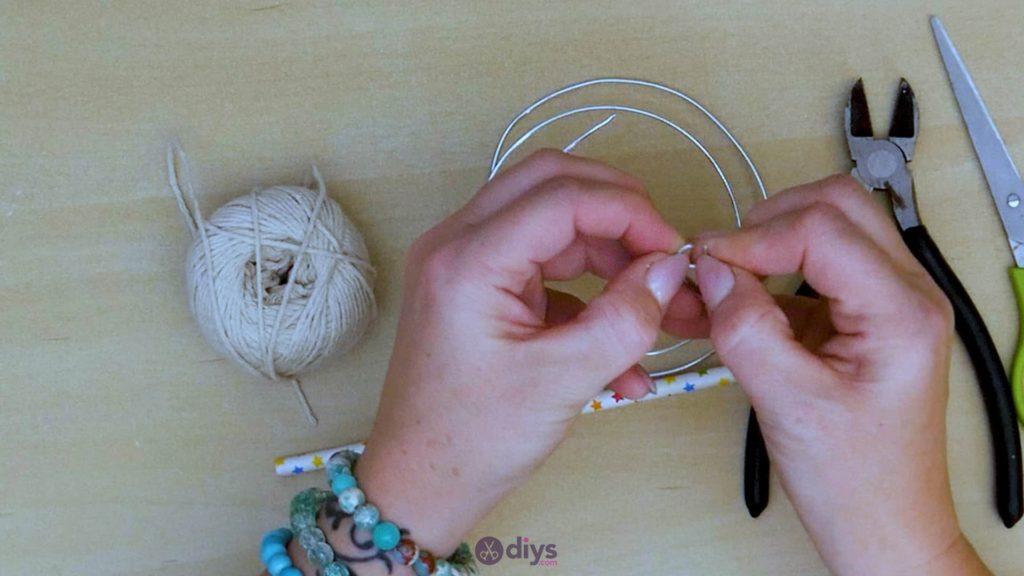 Diy hanging jute leaf step 2b