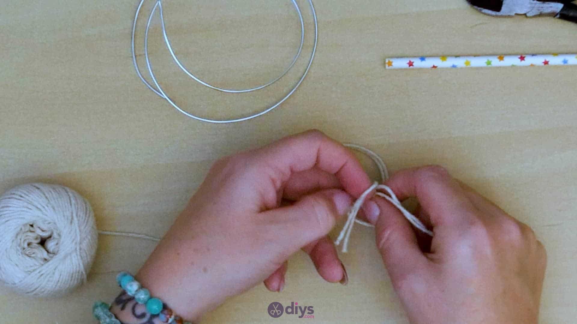 Diy hanging jute leaf step 4d