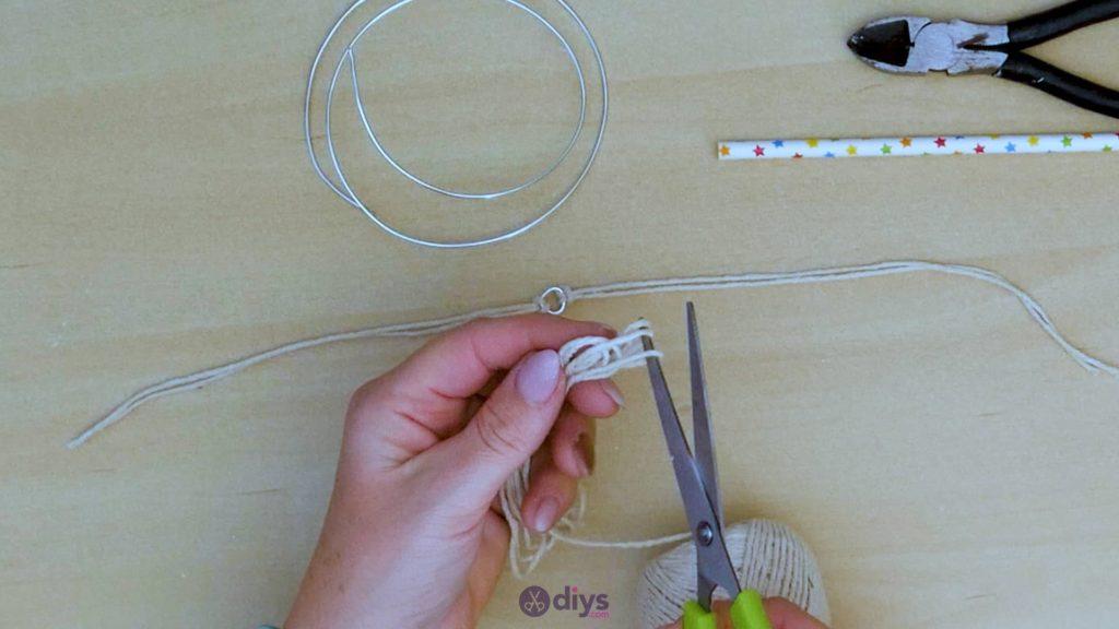 Diy hanging jute leaf step 5b