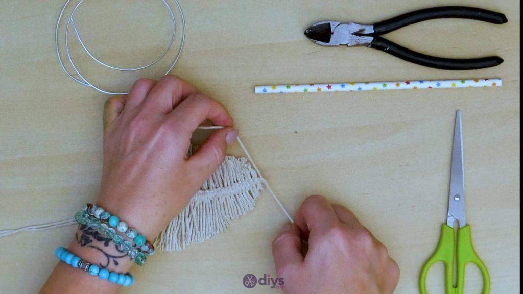 Diy hanging jute leaf step 7c