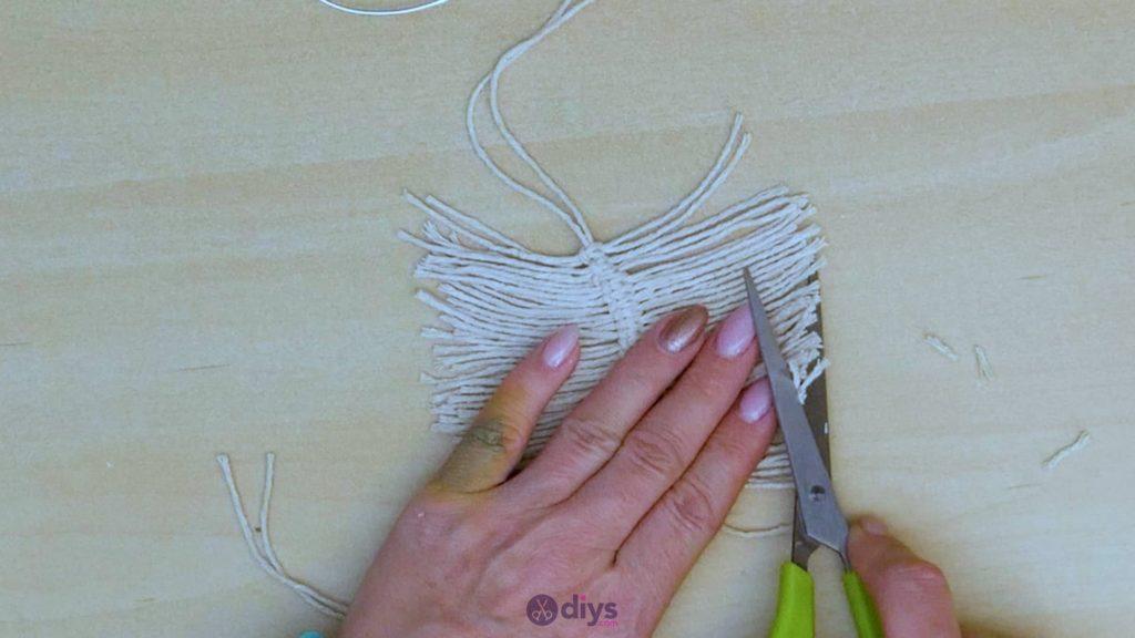 Diy hanging jute leaf step 8
