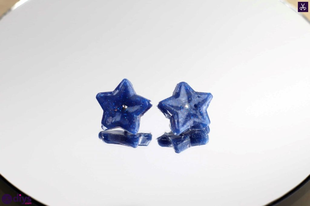 Diy hot glue star earrings simple project