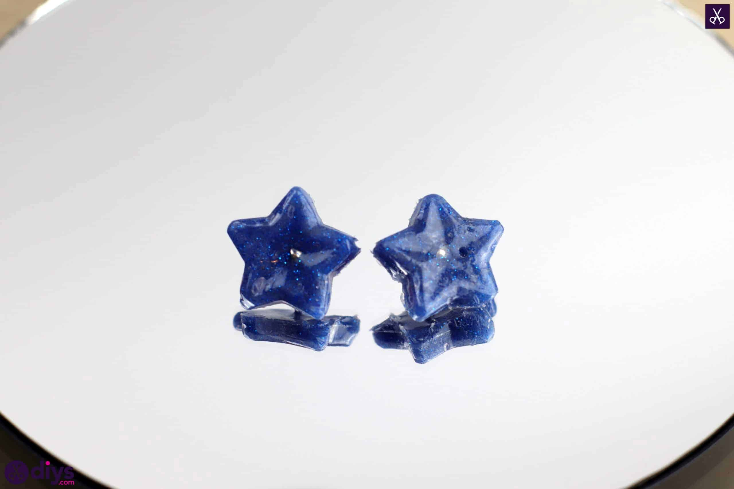 Diy hot glue star earrings simple project