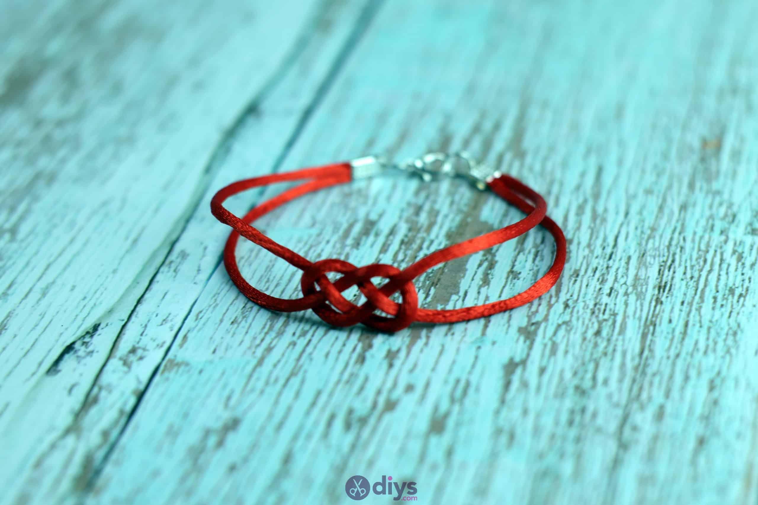 Diy knotted bracelet craft