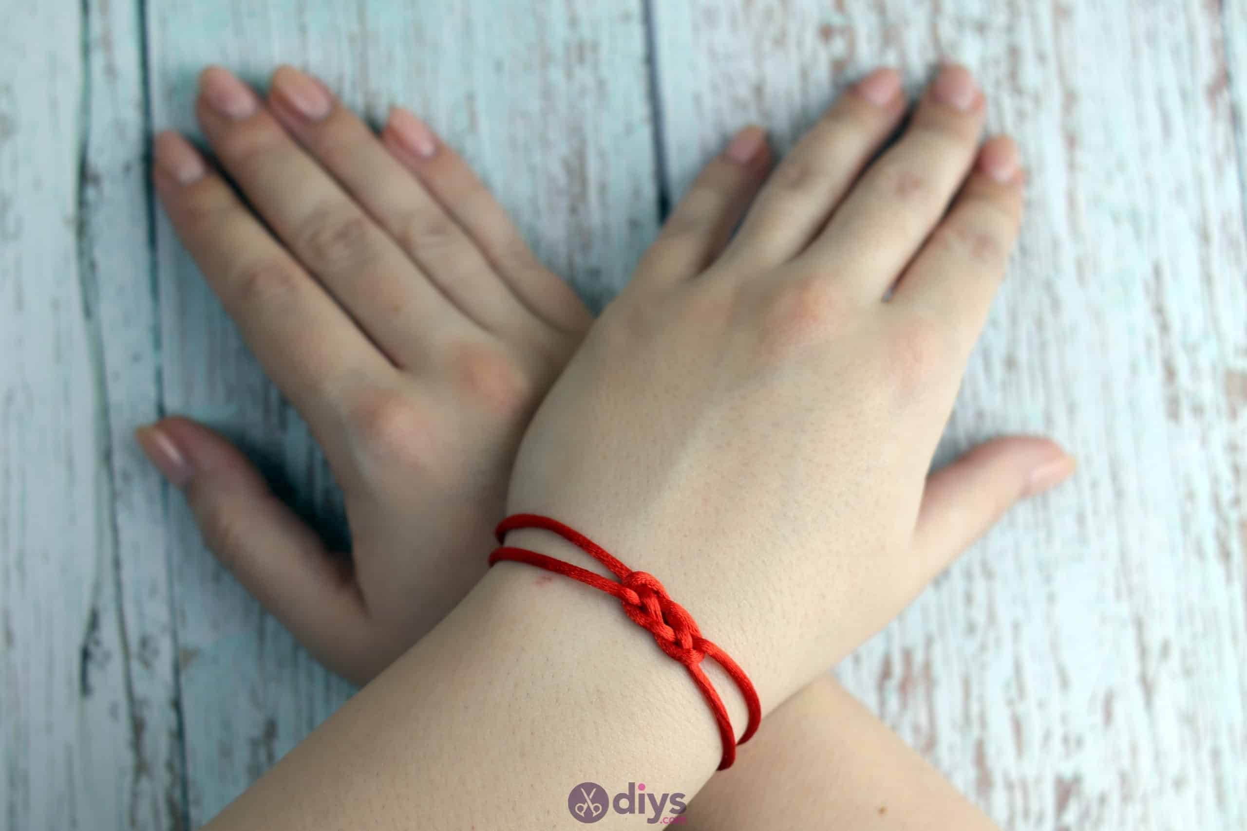 Diy knotted bracelet red string