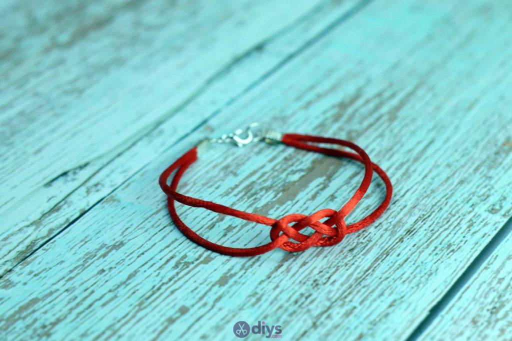 Diy knotted bracelet red string