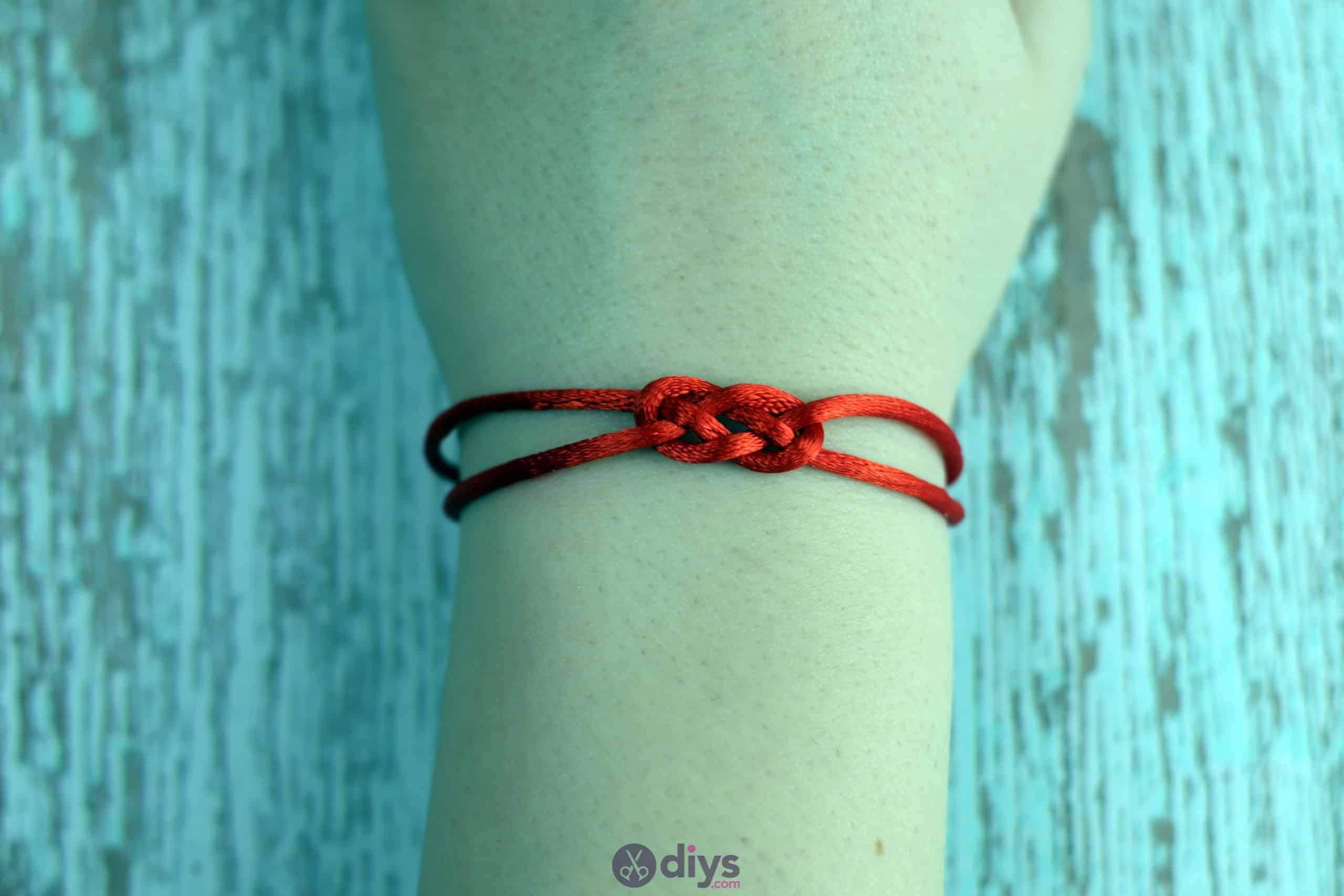 Diy knotted bracelet simple porject