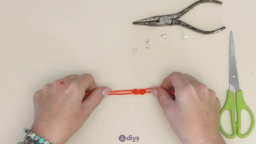 Diy knotted bracelet step 3cd