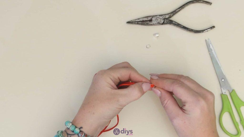 Diy knotted bracelet step 4