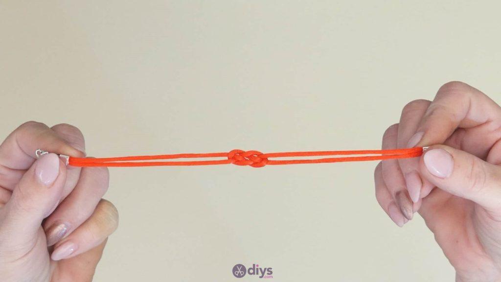 Diy knotted bracelet step 4c