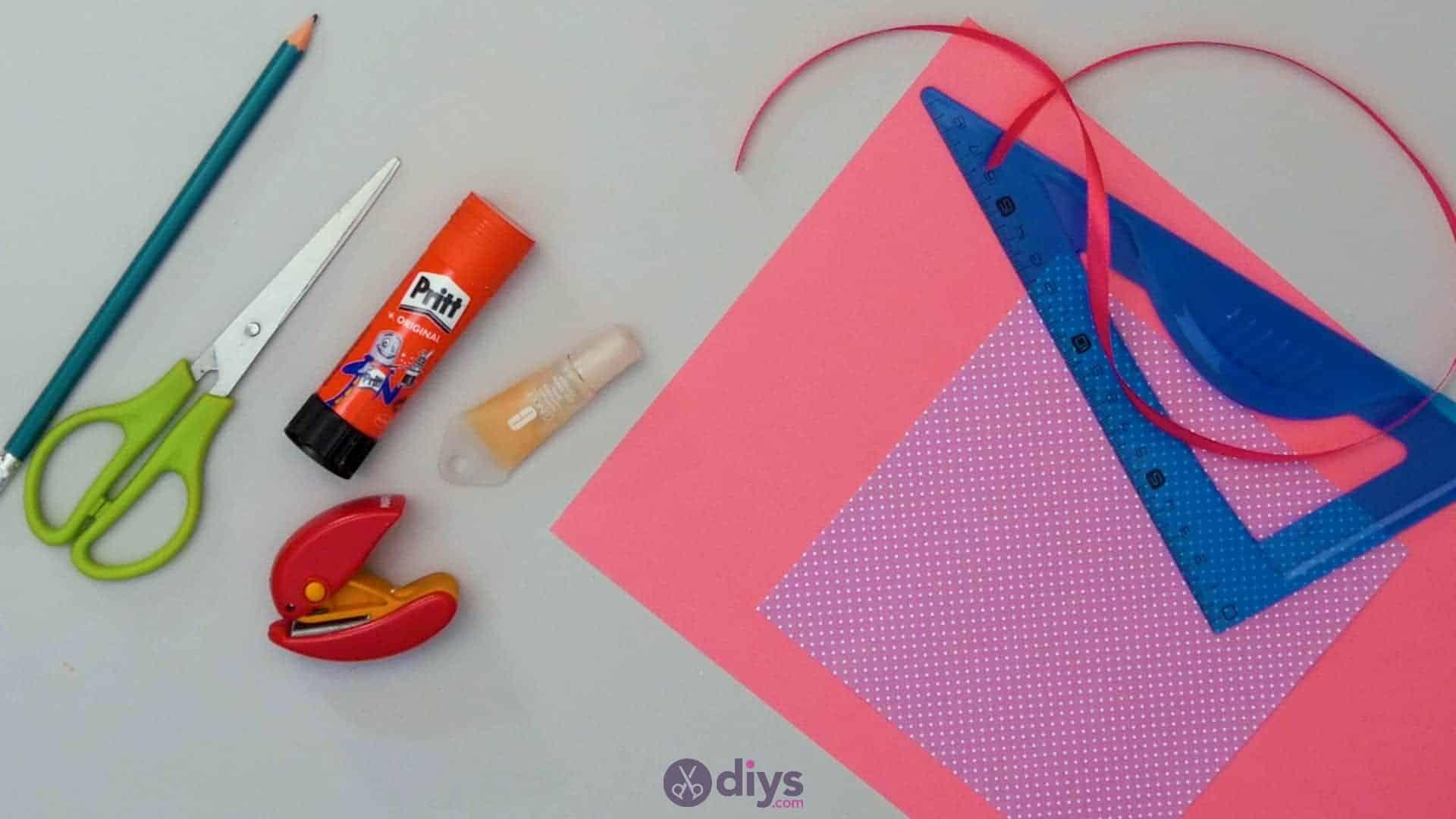 Diy lipstick gift card materials step 1