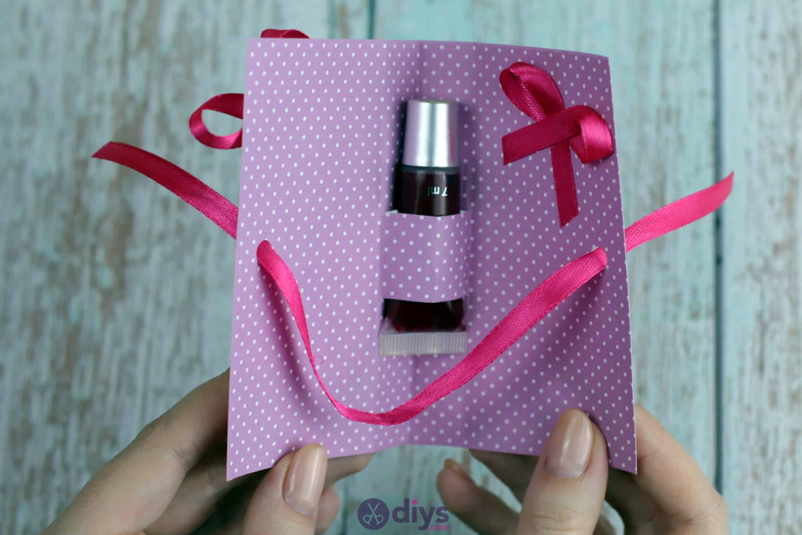 Diy lipstick gift card simple