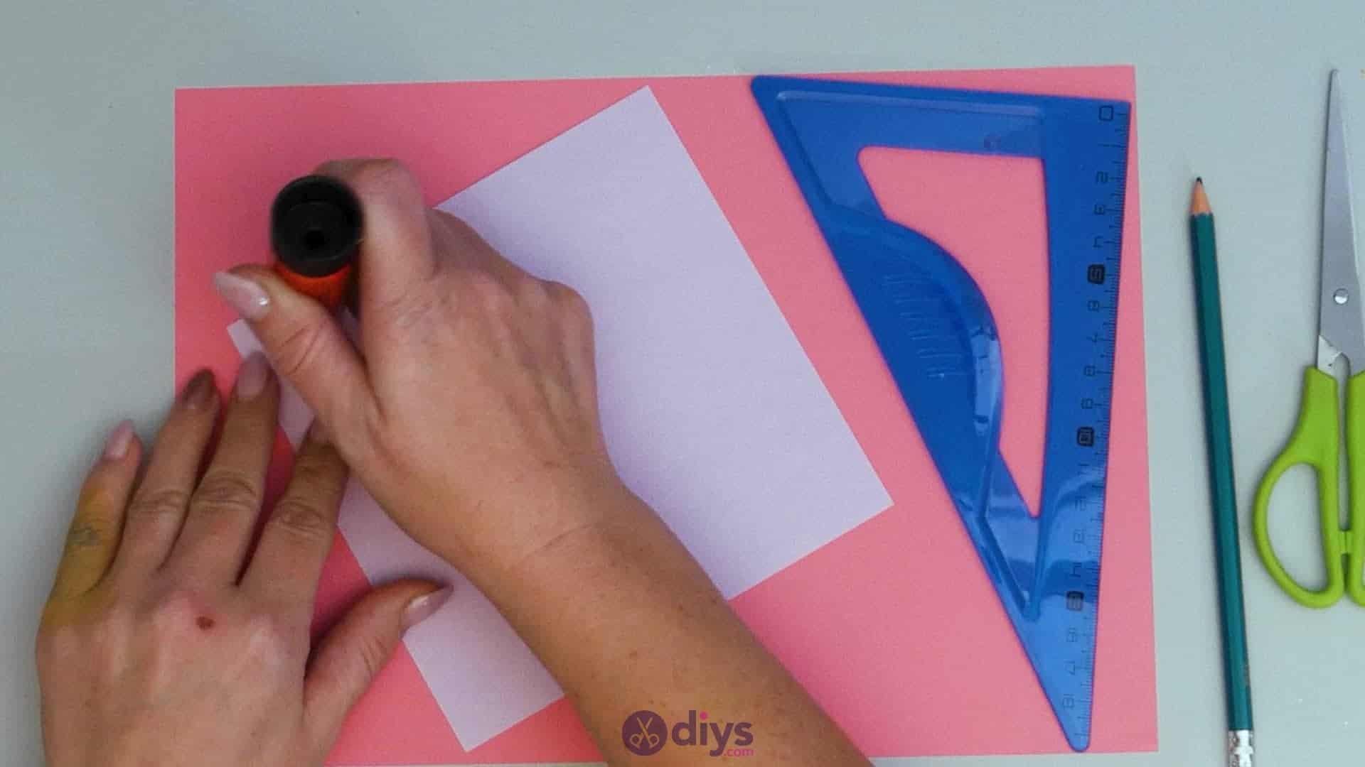 Diy lipstick gift card step 2