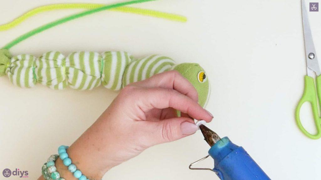 Diy no sew sock worm step 6c