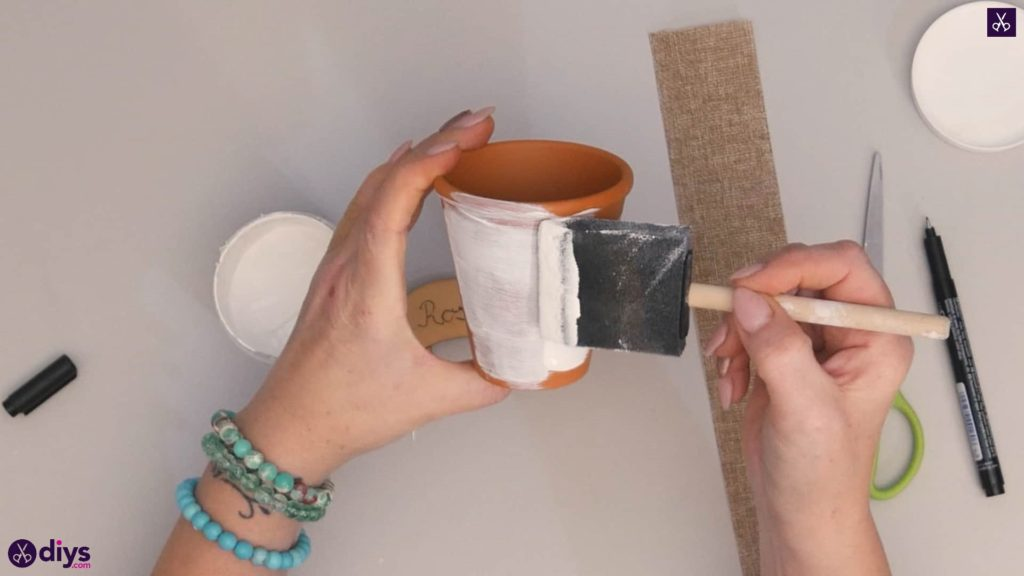Diy rustic terra cotta flower pot step 2