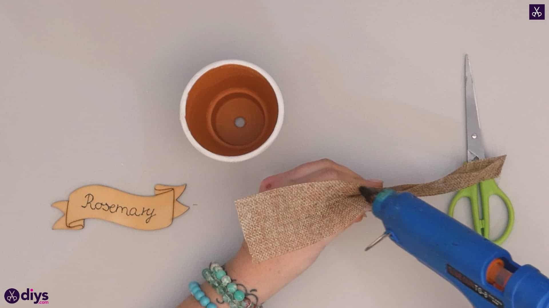 Diy rustic terra cotta flower pot step 3
