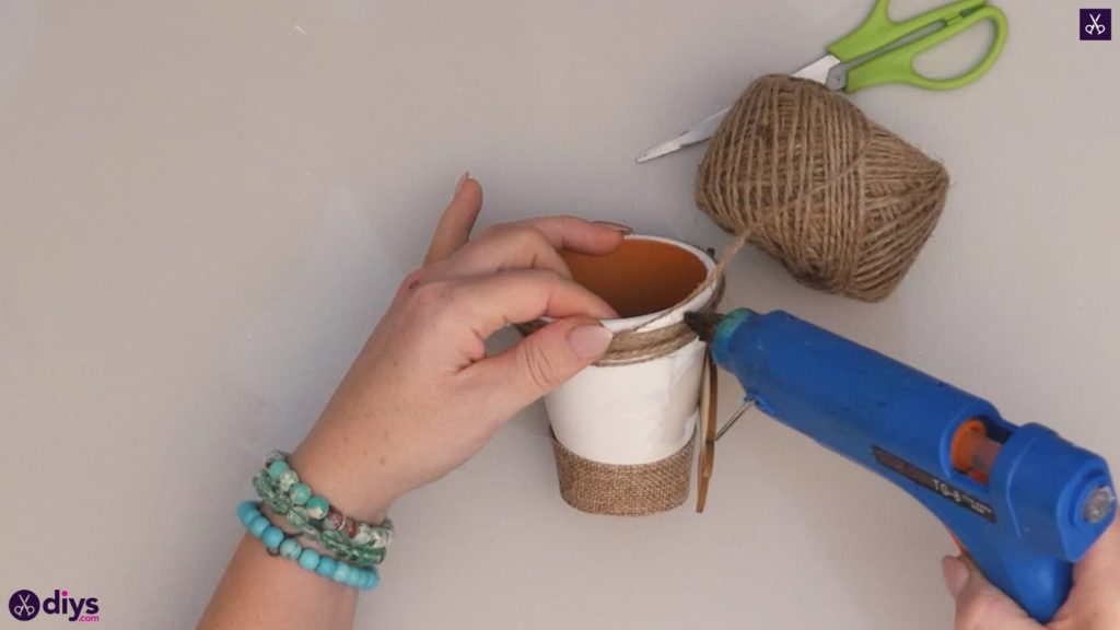 Diy rustic terra cotta flower pot step 5b