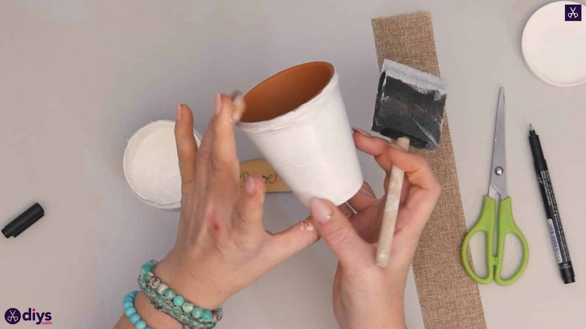 Diy rustic terra cotta flower pot step a