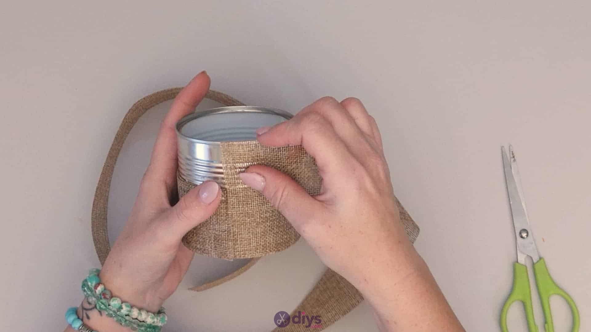 Diy rustic tin can container add