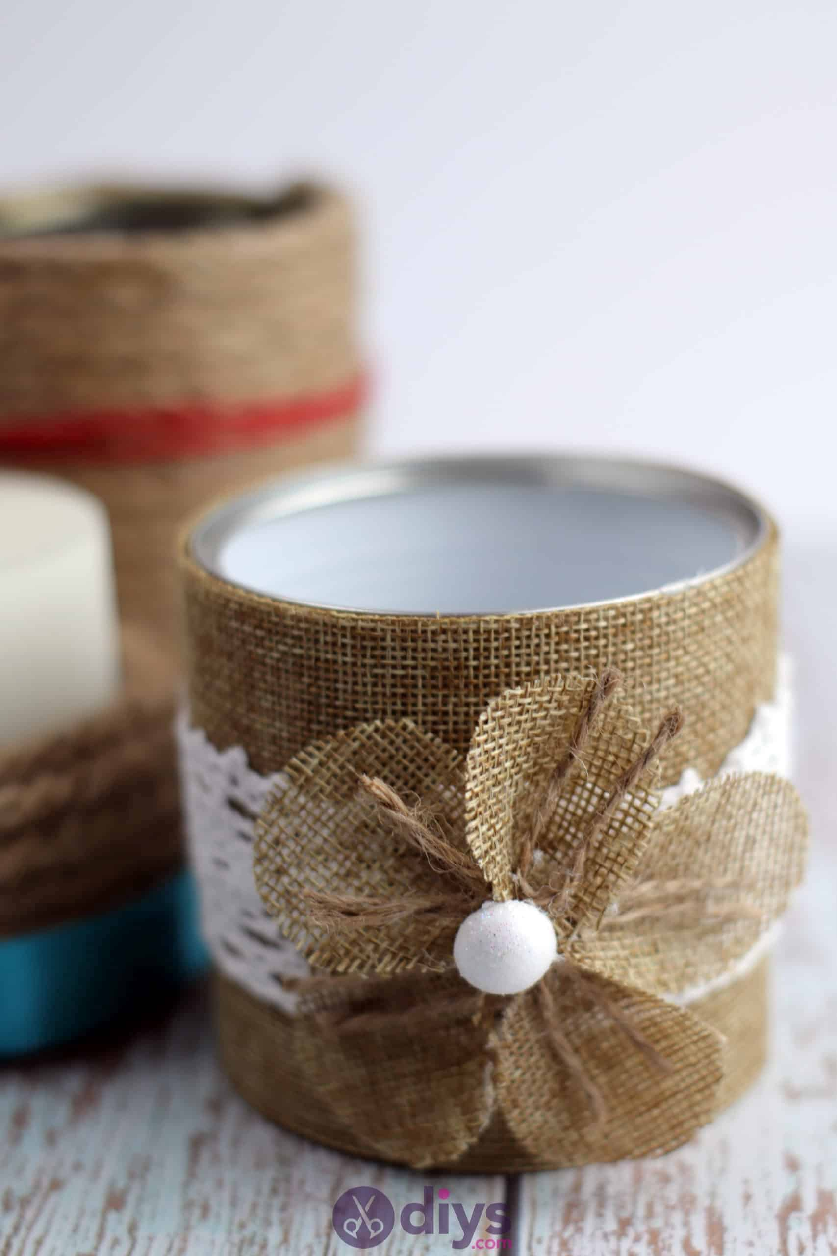 Diy rustic tin can container craft