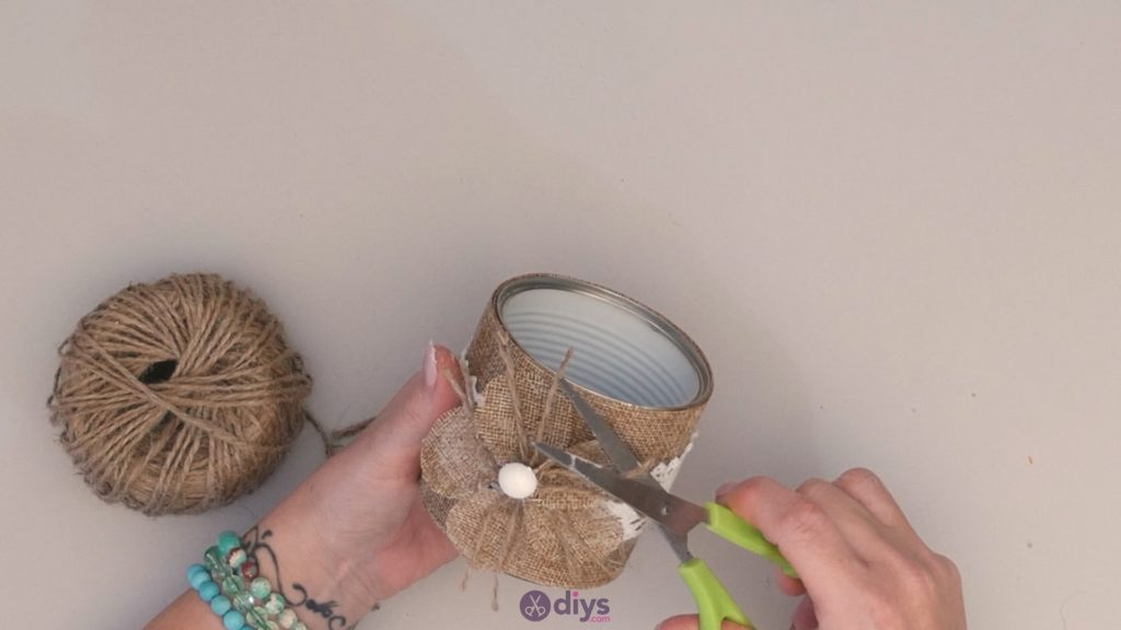 Diy rustic tin can container step 11d
