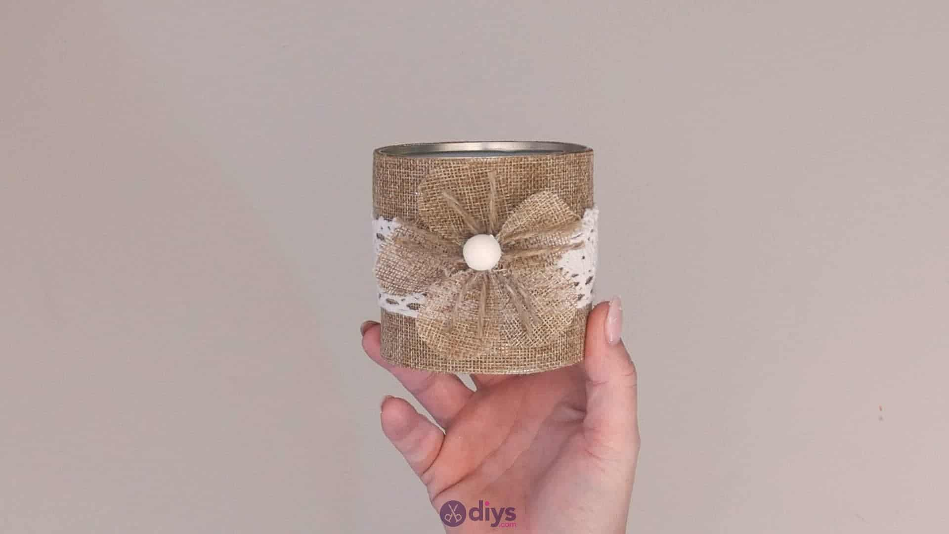 Diy rustic tin can container step 12c