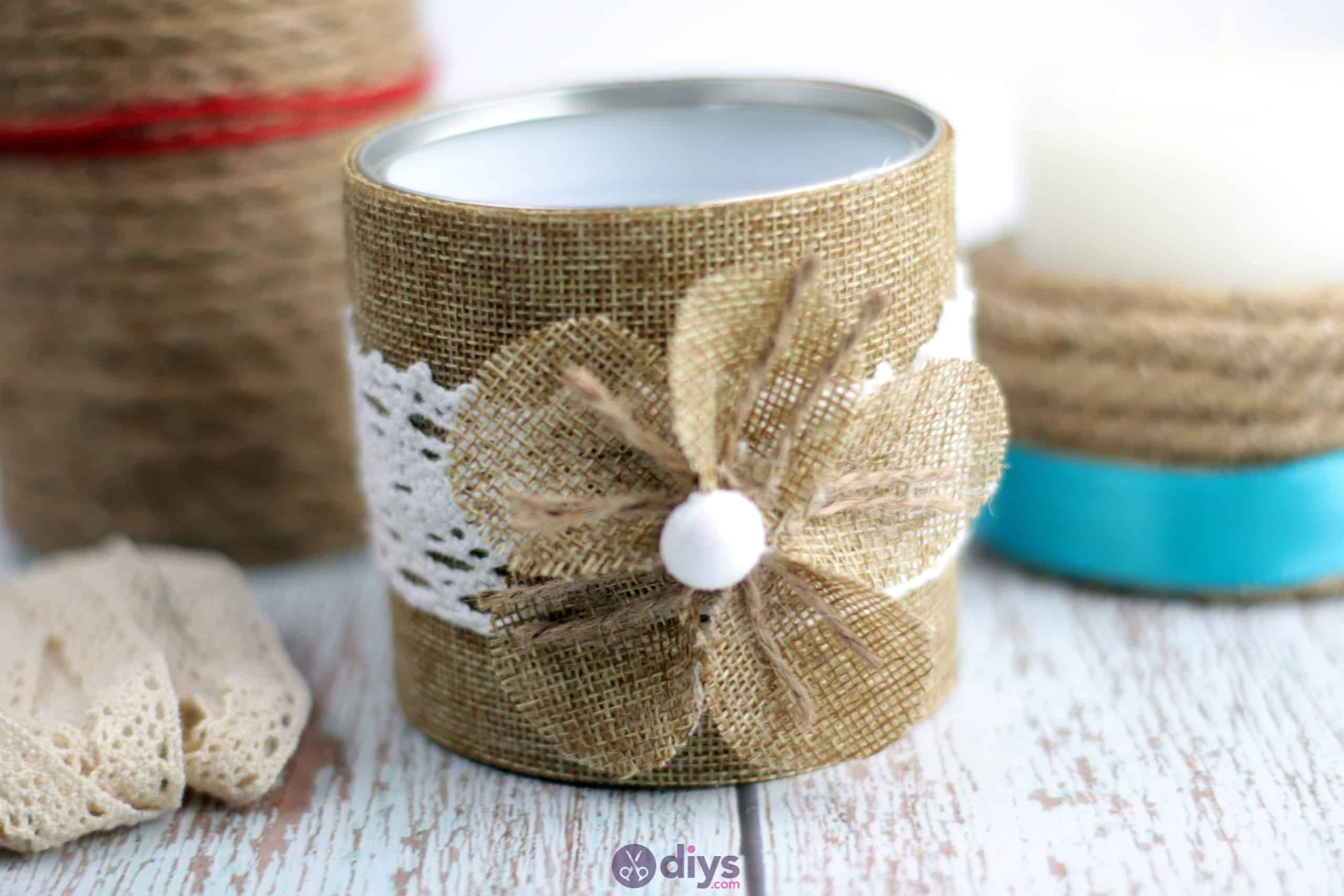 Diy rustic tin can container step 13