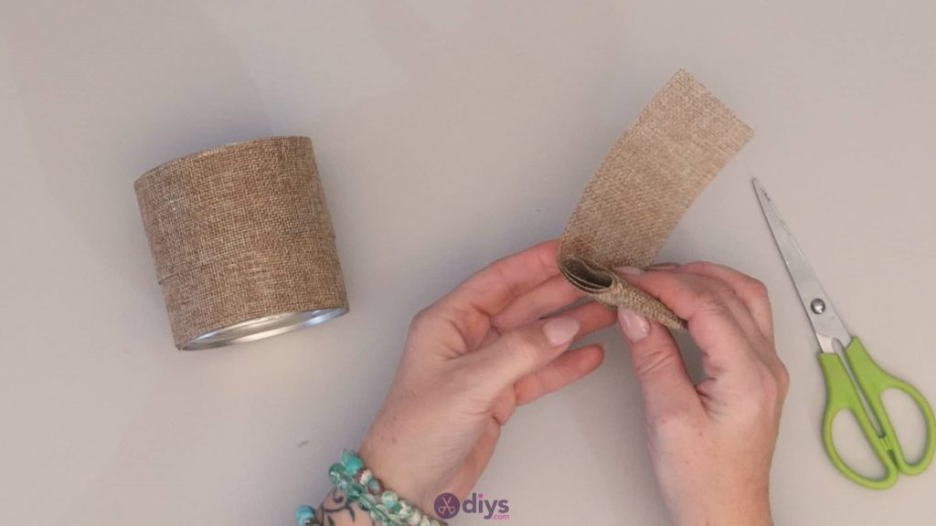 Diy rustic tin can container step 3