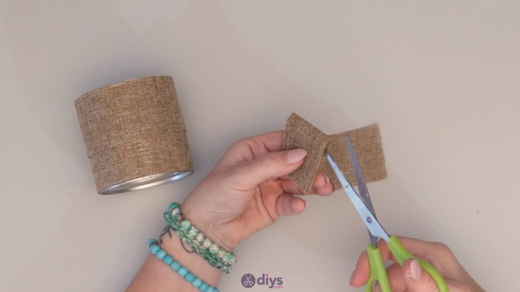 Diy rustic tin can container step 3b