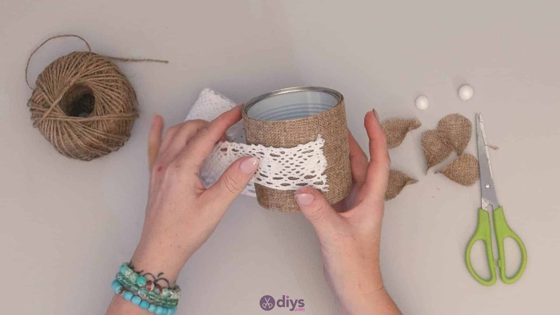 Diy rustic tin can container step 6a