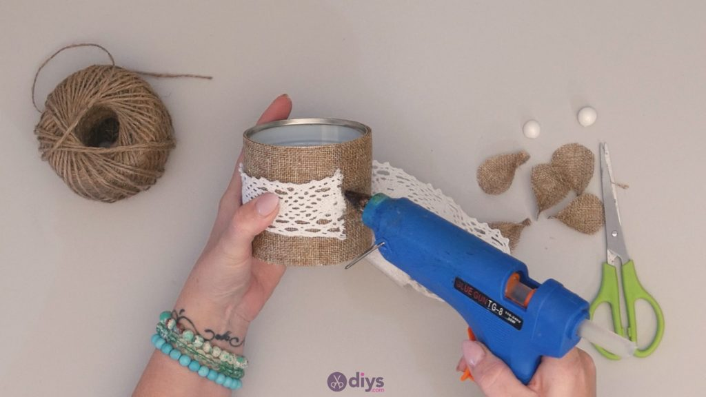 Diy rustic tin can container step 6b